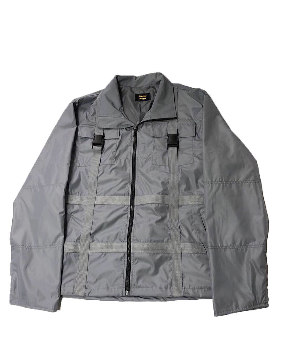 grey Strap Windruner Jacket