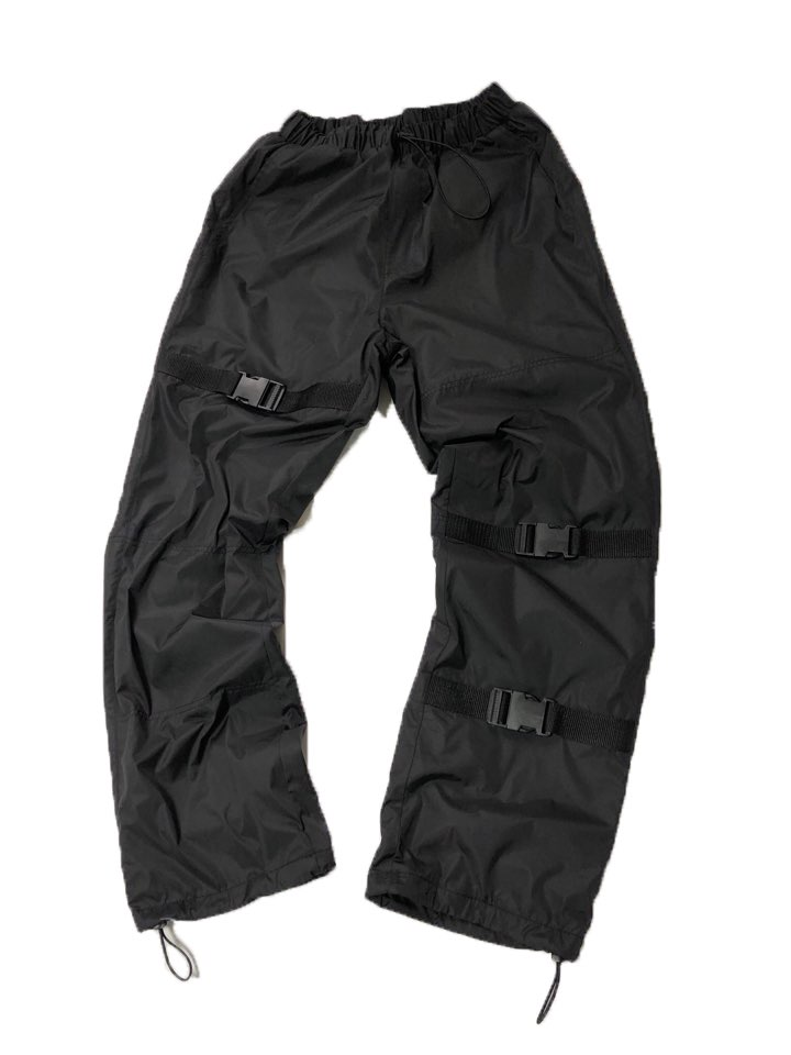 black Strap Windruner Pants