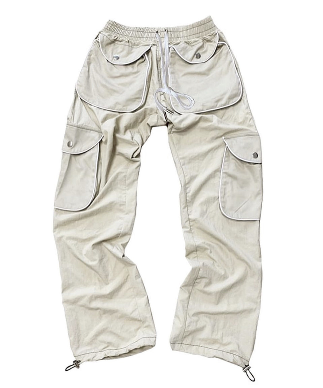 beige 2 color pants