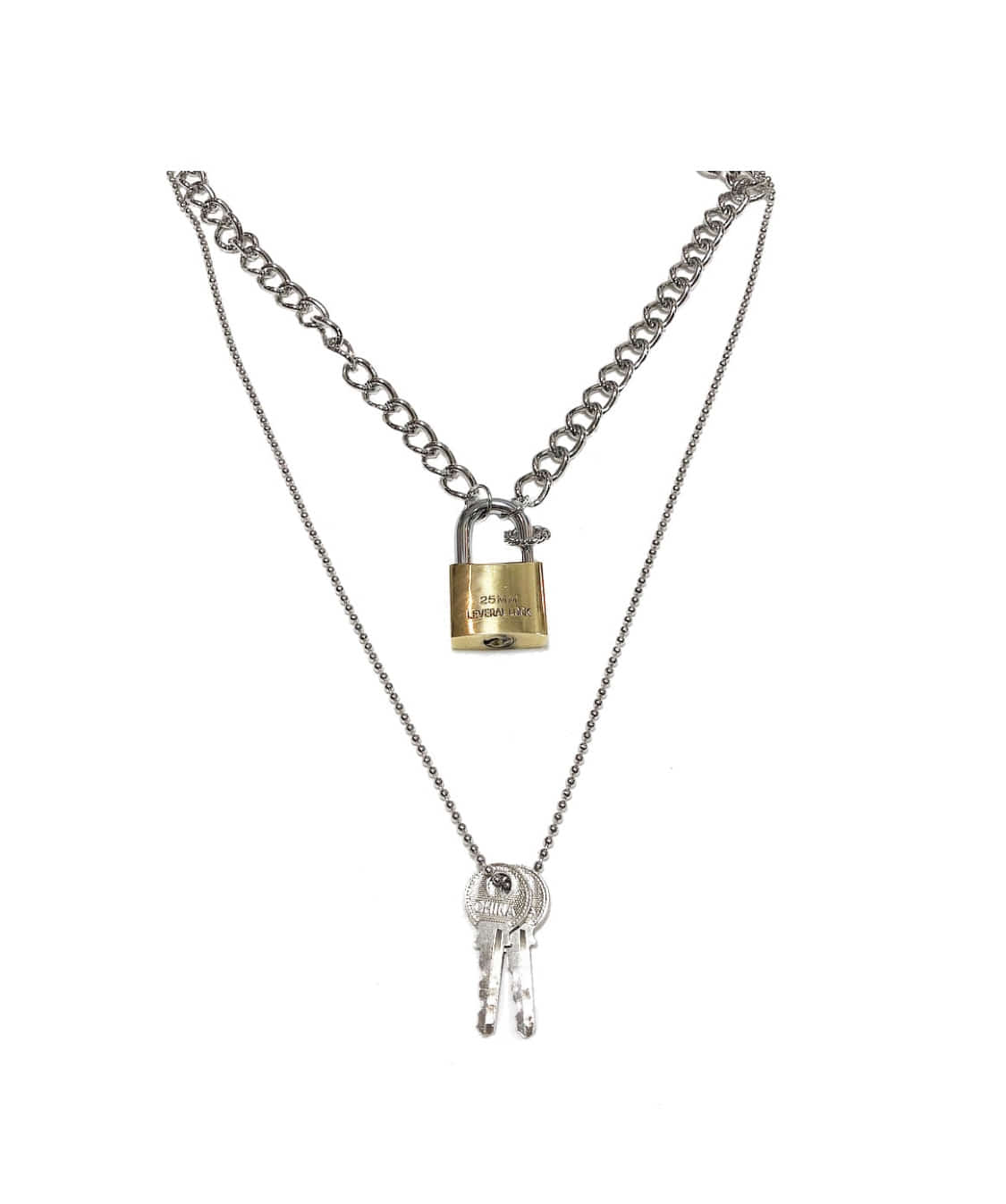Lock / key necklace