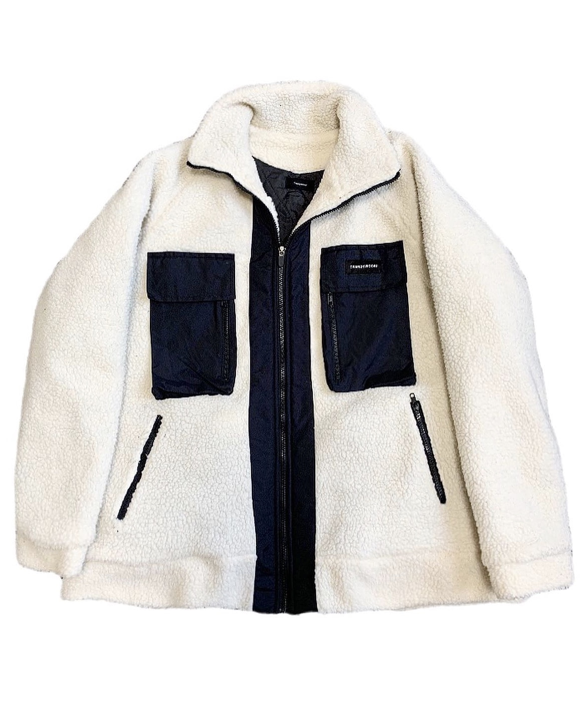 oversize fleece jacket Ivory